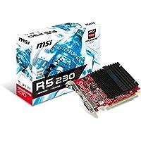 MSI AMD R5 230,1 64-Bit 1 GB DDR3 Low Profile HDMI VGA Dvi-D Pci-E, Scheda (Ati Radeon Low Profile)