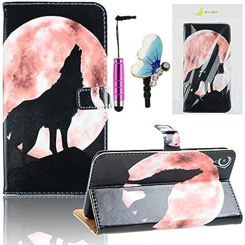 Moon mood® PU Cuero Funda para HTC Desire 820 5,5
