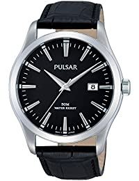Pulsar Herren-Armbanduhr XL Classic Analog Quarz Leder PS9303X1