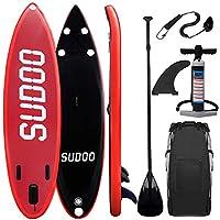 Triclicks Tabla Hinchable Paddle Surf/Sup Paddel Surf Rojo/Negro con Bomba, Mochila
