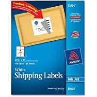 Avery - Inkjet Labels, Shipping, Permanent, 3-1/3