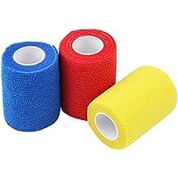 COM-FOUR 3er Set Selbsthaftende Bandage 4,5m x 7,5 cm - Atmungsaktiv, hautfreundlich, waschbar, dauerhaft elastisch... preisvergleich bei billige-tabletten.eu