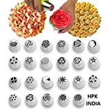 Hpk Stainless Steel Russian Piping Nozzles Cake Decoration Tips(Multicolour, 3-inch) - Set Of 12