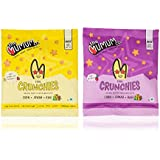 The Mumum Co. Cool Crunchies – Natural, Healthy Supergrain Roasted Puff Snacks for Kids Combo – (Pack of 8 Pouches) (4 Strawberry Banana & 4 Beetroot pouches)