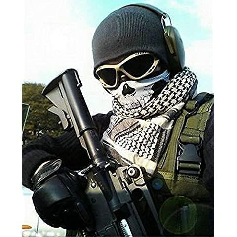 3pcs Skeleton Ghost Skull Face Mask motorista Balaclava Call Of Duty Cod Juego de vestuario