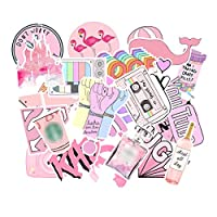 50Pcs Pink Stickers Cute Sticker Pack Waterproof Laptop Stickers Graffiti Vinyl Sticker Bag Luggage Guitar Scrapbook Water Bottle