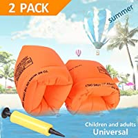 YTHH - Brazalete hinchable flotador de mangas flotantes para natación, brazaletes de tubo para niños y adultos