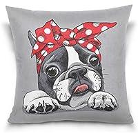 Use7 Funda de Almohada Decorativa Cuadrada Funda de Almohada, diseño de Perro Bulldog francés en