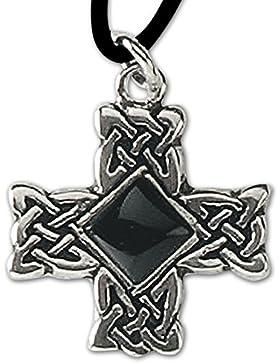 Anhänger Druidenkreuz Keltisches Kreuz Silber Keltenkreuz Amulett mit Lederhalsband Celtic Schmuck 612