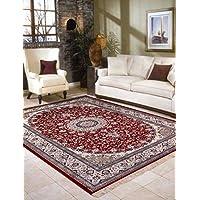 Al Salem Carpet Carpet Royal Palace Collection Classic Area Rug, 095 CM x 140 CM, RED
