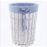 GYMNLJY Servizio lavanderia deposito deposito cestino Rattan Willow Storage Benna