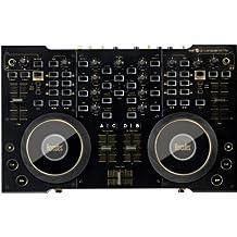 Hercules 4-Mx - Controlador DJ para ordenador (2 jog wheels grandes, audio integrado, control de 2 y 4 decks, incluido Virtual DJ 7 LE), color negro