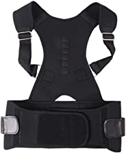 Magnetic Posture Corrector Volwco Adjustable Breathable Neoprene Upper Back Brace Magnetic Therapy Shoulder Support Lumbar W