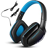 Cada Kotion B3506 hilos universal de Bluetooth V4.1 del receptor de cabeza plegable, equipo de música estéreo bajo sobre los auriculares del oído con el micrófono incorporado para PC, PS4, Tabletas, teléfonos, Mp4 por Senhai