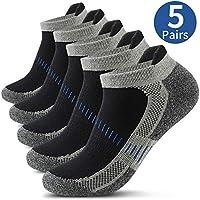 Men's Ankle Athletic Socks, Mens Running Socks Cotton Crew Socks Nonslip Athletic Sports Socks for Outdoor Sports Hiking Trekking Walking