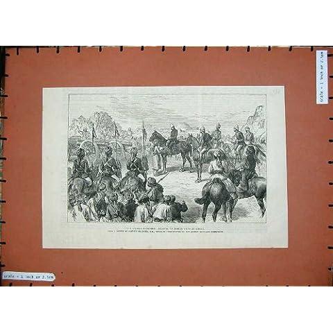 L'Indiano Afgano di Frontiera 1886 Spara gli Uomini dei Cavalli di Guerra del Cuore - Cuore Afgano