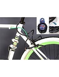 ryask (TM) Universal para bicicleta 4Código Digital de seguridad contraseña combinación acero cadena Cable cerradura antirrobo yc074-sz