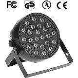 Docooler 24W AC 90-240V 24 LEDs RGB Efecto Etapa Luz de la Igualdad la Luz DMX 512 se Activa por Sonido Maestro Esclavo de Ejecución Automática