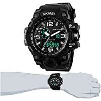 Easy-Room Digital Sports 50M Waterproof Watch Electronic Military Watch with Alarm Stopwatch Back Light Casual Multifunctional Wristwatch for Men