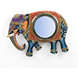 "D'Dass™ Elephant 18"" Decorative Wall Mirror / Wall Decorative/Mirror For Wall / Hanging Mirror / Painted Mirror / Small Mirror By D'Dass/Wall Mirror For Living Room/Bathroom Mirror/Mirror For Gift/Christmas & New Year Festival"