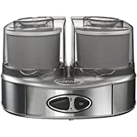 Cuisinart ICE40BCE Sorbetière Machine à glace Duo, 2 bols accumulateurs de froid (2x1L)