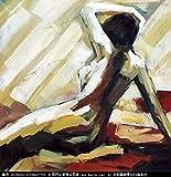 Ölgemälde Auf Leinwand Handgemalt Abstract Abbildung Malerei, Frau Nackt Auf Dem Bett, Vintage Orientalische Moderne Ursprüngliche Kunst Für Erwachsene Wohnzimmer Schlafzimmer Haus Wand Dekoratio