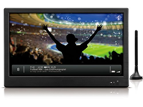 Odys Moveon 10,1 Zoll (25,7cm) Tragbarer Fernseher - Portabler hochauflösender LCD TV mit DVB-T / Digital Recorder für Aufnahmen (PVR-Ready) / Multimediaplayer via USB, HDMI,  Akku- oder Netzbetrieb