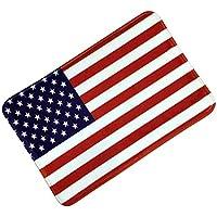 BESTOYARD Bandera Americana Alfombras Antideslizantes Alfombras de Piso esteras del Dormitorio alfombras Que absorben el Agua decoración para baño Cocina 38x58cm