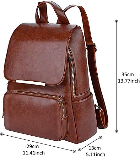 Best ladies backpack in India 2020 ASTIR COLLEEN Leather Backpack for Men/Women (Tan) Image 2