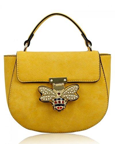 LeahWard Kleine Umhängetasche für Damen Designer Tote Grab Taschen Handtaschen für ihren Partyurlaub 0812 (PRIMROSE GELB) (Designer-handtasche Gelbe)
