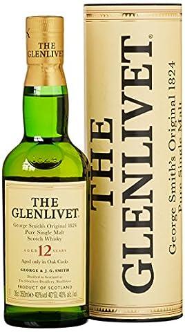 Glenlivet 12 Years Old mit Geschenkverpackung (1 x 0.35 l)