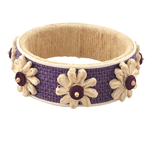 Zephyrr fashion Jute Lightweight Handmade Bangle With Wooden Beads For Girls and Women