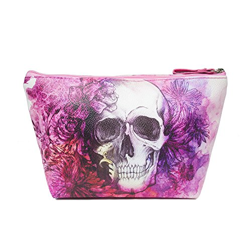 taylorhe-make-up-bag-cosmetic-case-toiletry-bag-printed-pvc-zipped-top-pink-floral-and-skull