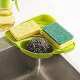 #8: RIANZ Corner Plastic Triangle Large Dishwasher Dishware Vegetable Fruit Drying Kitchen Rack Tray Holder Rack Sponge Holder