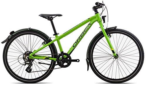 Orbea MX 20 Park Zoll Kinder Fahrrad 7 Gang MTB Rad Aluminium Jugend Mountain Bike Schutzblech, I014, Farbe grün