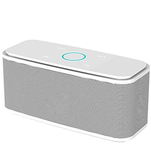 GLXLSBZ Testsieger Lautsprecher,Bluetooth Lautsprecher Kabellose Portabler 12W Touch Lautsprecher mit 12-Stunden Spielzeit & Dual-Treiber Wireless Speakers mit TF Karte, Mikrofon und Reinem Bass