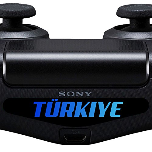 (2x Sticker PS4 Controller Decal Aufkleber Türkiye Türkei Light Bar LED Playstation 4)