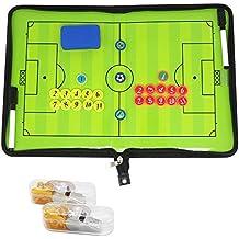 Coach tarjeta Coach–Carpeta para fútbol Professional carpeta táctica de fútbol con imanes lápices goma de borrar
