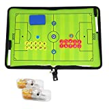 Fußball Taktikmappe Coach Board Coach Mappe für Professional Fußball Trainer mit Magnete , Stifte , Radiergummi , Pfeife (Art A)