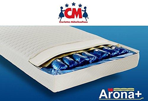 Wasserbett 160x200 cm, Wasserbettmatratze Arona+ Komplett-Set Wassermatratze für alle gängigen Bettgestelle. Qualitätsprodukt, Deutscher Markenhersteller.