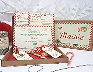 J&R Boutique Christmas Eve Box Personalised A5 Size Santa Letter Magic Key & Reindeer Food