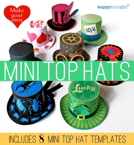op Hats: includes 8 mini top hat templates (Happythought paper craft Book 1) (English Edition) ()