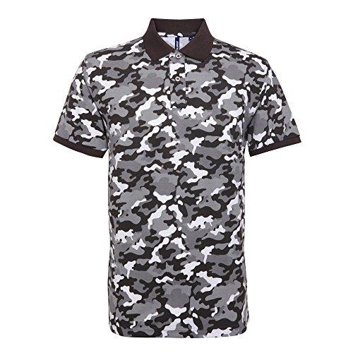 Asquith & Fox Camo Herren Poloshirt Camo Grau