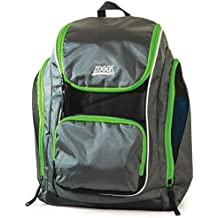 2017 Zoggs Poolside Swim Back Pack BLACK / GREY / GREEN 302840