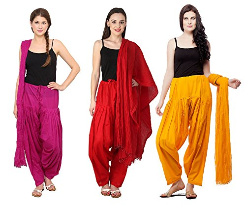 Mango people products combo of Magenta(Dark Pink), Red, & Mustard Colour 3...