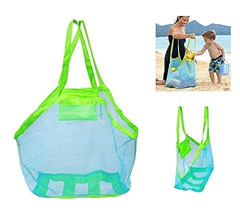 OurKosmos® Extra Large Familie Mesh-Strand-Tasche Sand Spielzeug-Speicher-Organisatortote Rucksack Spielzeug Handtücher