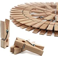 Tistook Natural Bamboo Cloth Pegs, Wooden Clips, Clips for Decoration, Clips for Art and Craft (20 Pieces)