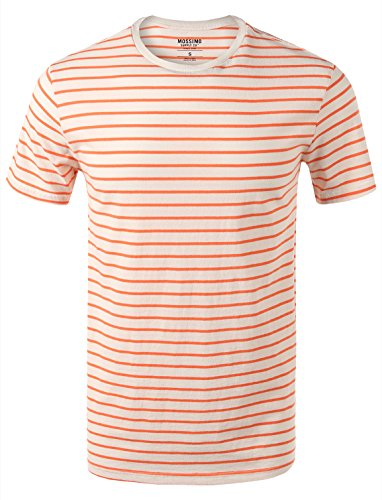 7 Encounter Mossimo Herren T-Shirt Rundhals - Orange - X-Groß