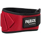 PAULGOS Gewichthebergürtel Profi Fitness Trainingsgürtel in 5 Farben Gr. XS-L, Farbe:Rot, Größe:S