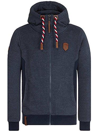 Naketano Male Zipped Jacket Birol Jeck VI indigo blue melange